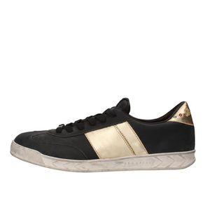 BASKET SERAFINI Chaussures Homme Baskets Cuir Noir AF878