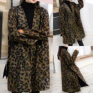 VESTE Femmes Caban Veste manches longues Leopard Jacket