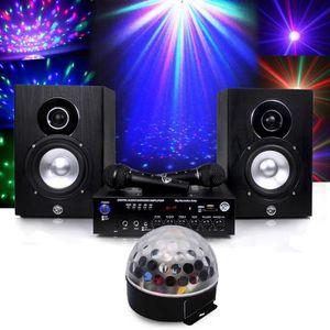 JEUX DE LUMIERE Pack karaoké complet 150W + Boule Astro LED RVB