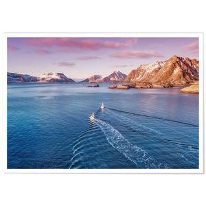 AFFICHE - POSTER Panorama® Poster Montagnes du Lac 100 x 70 cm - Im