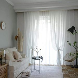 Incroyable Voile Rideaux net avec des couleurs laisse Tout-Prêts Living Salle à manger Nouveau
