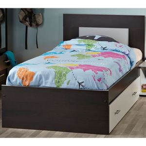 tete de lit wenge achat vente tete de lit wenge pas cher cdiscount. Black Bedroom Furniture Sets. Home Design Ideas