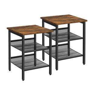 CHEVET Lot de 2 Tables de chevet style industriel Tables