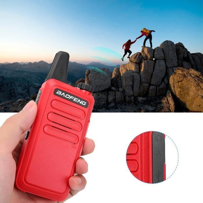 Mini talkie-walkie radio bidirectionnel HD ultra-mince et anti-interférences (modèle F)