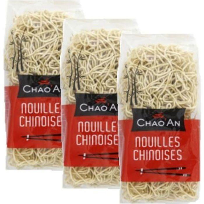 Lot 3x Nouilles chinoises sèches instantanée - Chao'an - sachet 400g