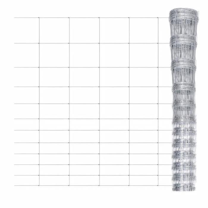♫2477 Clôture Classique - Clôture de jardin Brise vue Brise vue Acier galvanisé 50 m 150 cm FNCM®