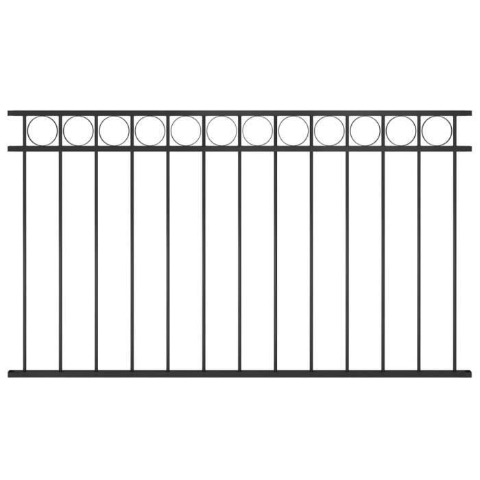 ♫1813 Brise vue - Clôture de jardin Brise vue Classique Acier 1,7x0,8 m Noir FNCM®