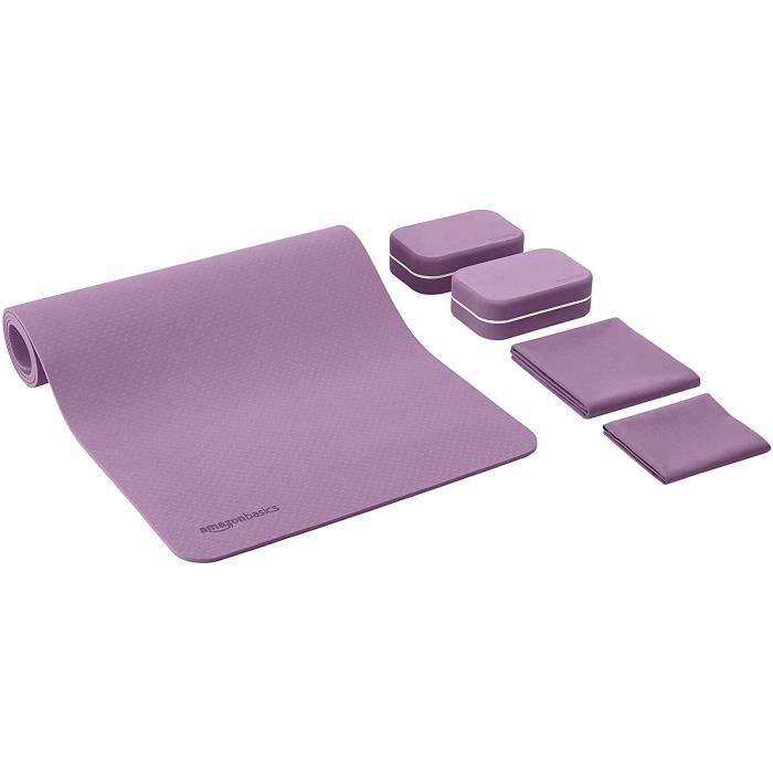 Amazon Basics Lot de 6 tapis de yoga en TPE de 0,635 cm d'épaisseur