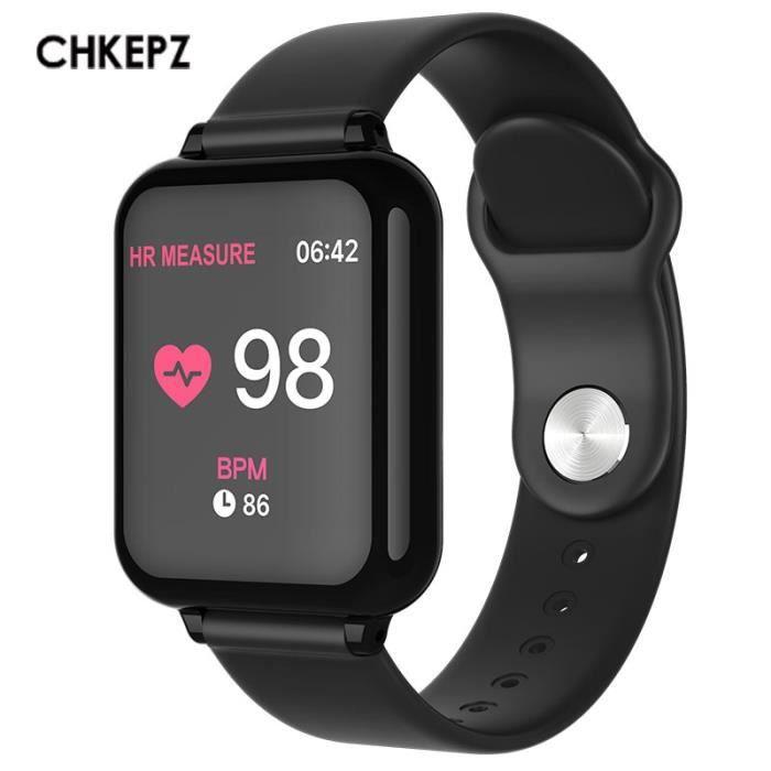 2019 nouveau B57 montre cardiaque pression artérielle Sport smartwatch femmes pour ios Android Xiaomi Huawei - Type Noir-no box