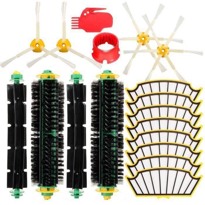 Kit Filtres Soies Beater 2 Brosse à Poils Nettoyage Pour iRobot Roomba 500 Serie