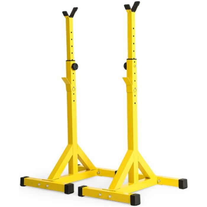 BANC DE MUSCULATION KUKU Squat Rack Halteacuterophilie Support Repose Barre Musculation Support Reacuteglable Barre de Squat P207