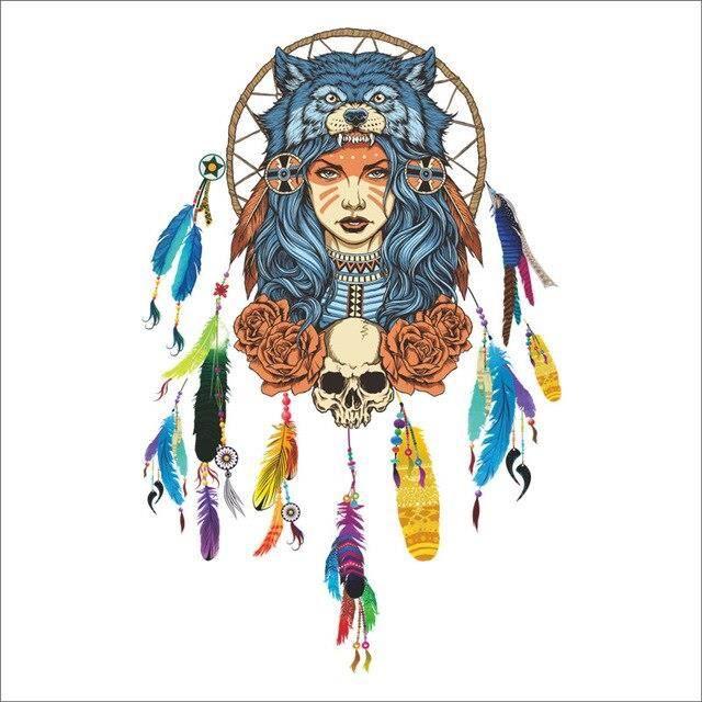 Autocollant Mural attrape rêves volants, plumes, symbole, décoration de maison indienne, s objet decoratif ZSW5999