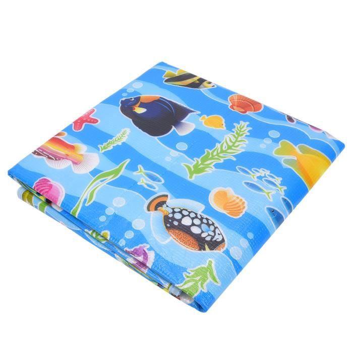 Tapis de ramper, tapis de ramper imperméable antidérapant pour bébé Blue Ocean World Baby pour enfants