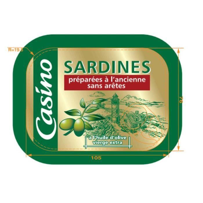 Sardines préparées à l'ancienne à l'Huile d'Olive - Sans arêtes - 135 g