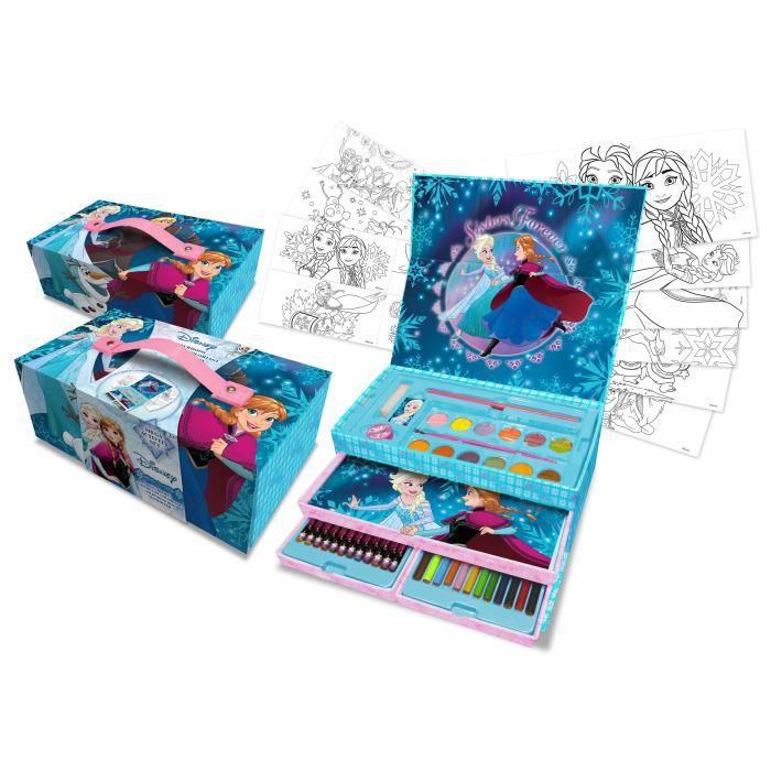 LA REINE DES NEIGES Coffret De Coloriage à Tiroirs Deluxe Gift Box