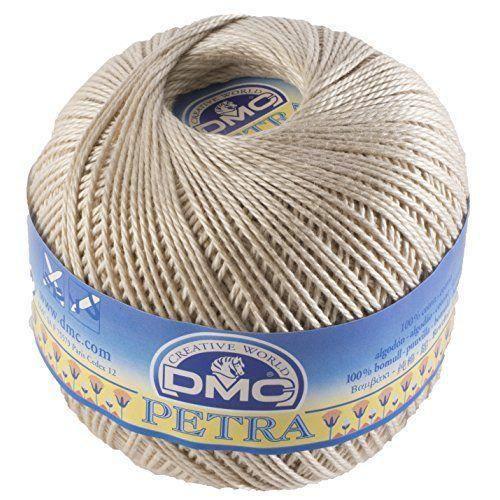 Fil DMC Petra, 100% coton, beige, taille 3