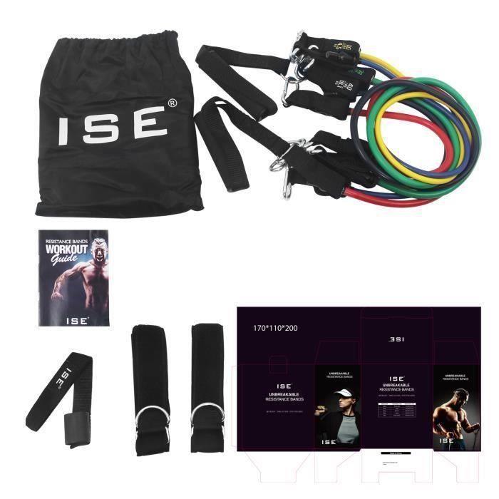 DUYAER® Bandes de Resistance Elastiques Musculation Set Fitness Exercice Bandes Kit pour Fitness Yoga Gym Entraînement Hommes Femme