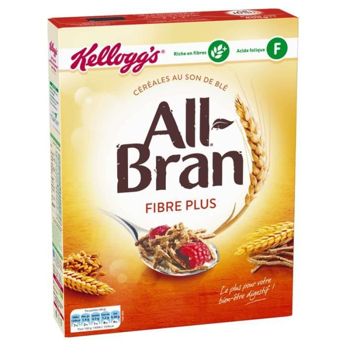 All Bran Fibre Plus 500G Kellogg's