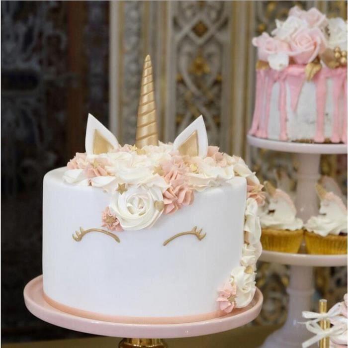 1PCS Moule à Corne de licorne en silicone pour décorations de gâteaux en fondant/pâte à sucre/gumpaste/chocolat
