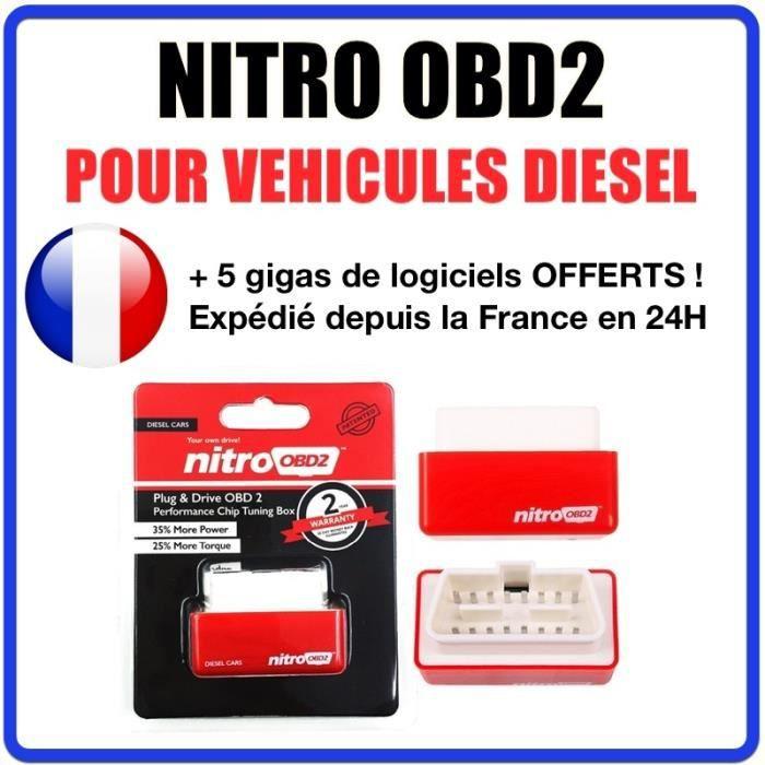 Programmation Chip Tuning - NITRO OBD2 pour véhicule DIESEL