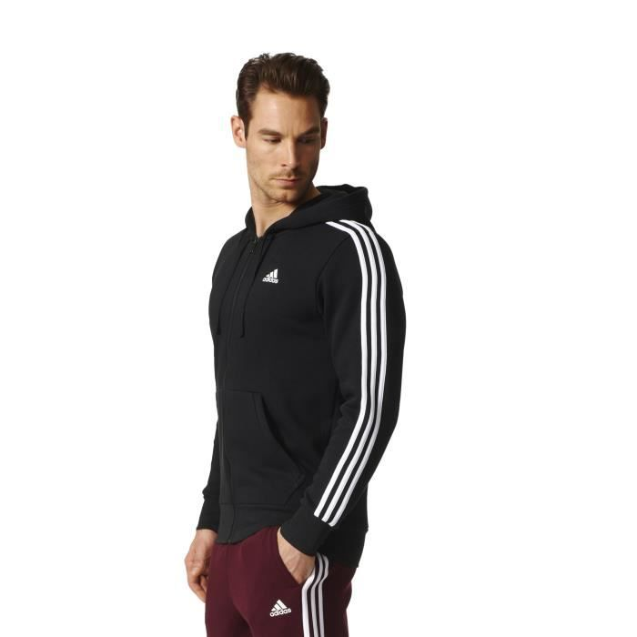 Veste à capuche adidas Essentials 3-Stripes Fleece