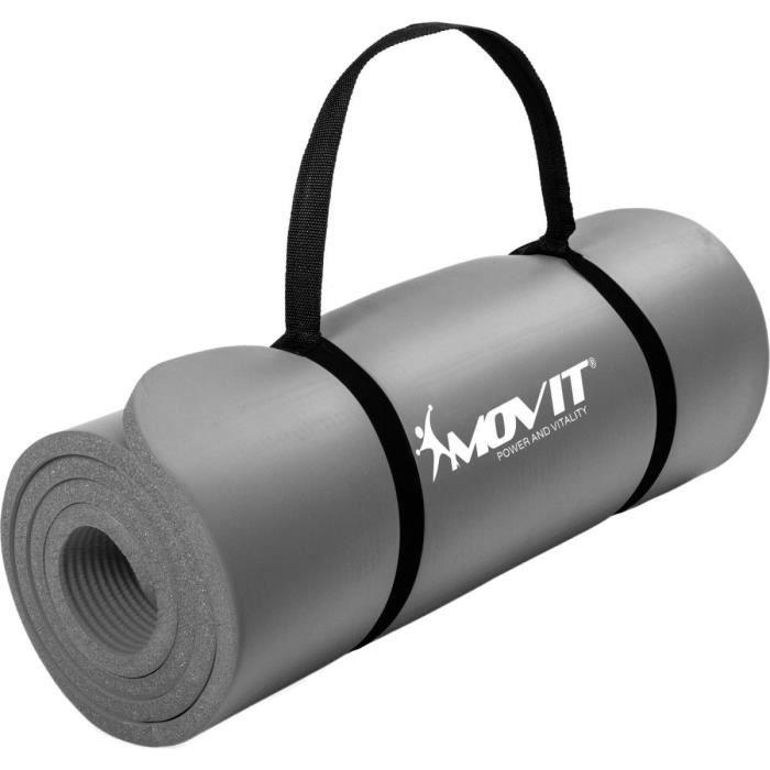 MOVIT Tapis de gymnastique 183cm x 60cm x 1,0cm, Gris