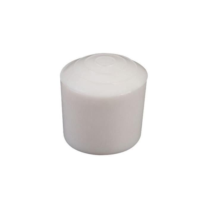 Embout en plastique blanc (Ø Extérieur tube: 22 mm)