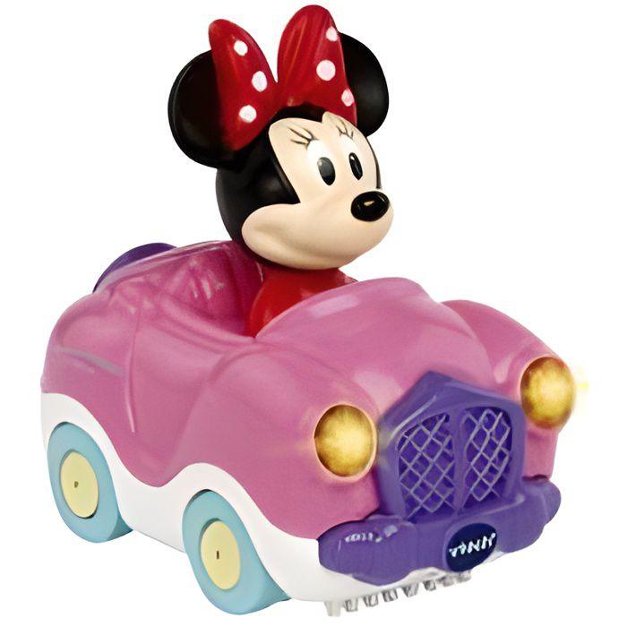 Tut Tut Bolides - Le cabriolet magique de Minnie - Voiture interactive rose Disney Bebe Fille - Vtech