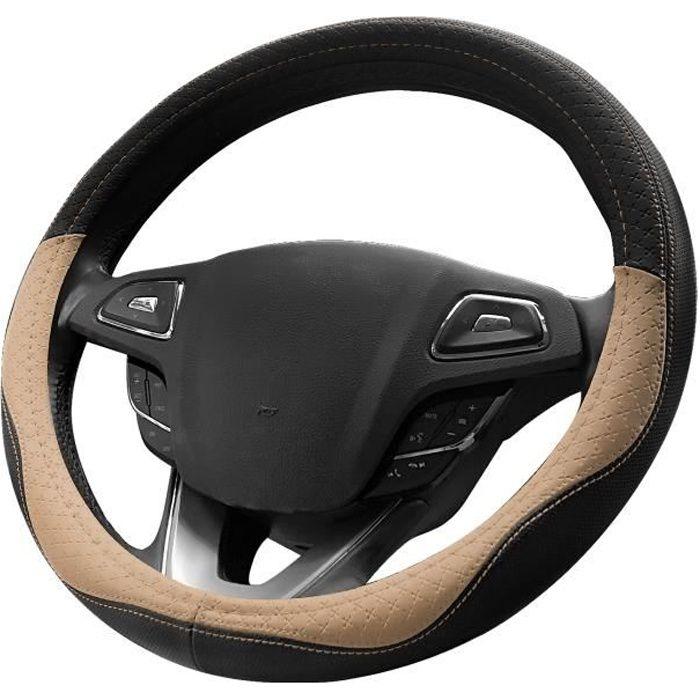 XuBa Coudre /à la Main Couvre Volant Couvre Volant en Cuir pour Automobile Guidon Couvre-Volant de Voiture