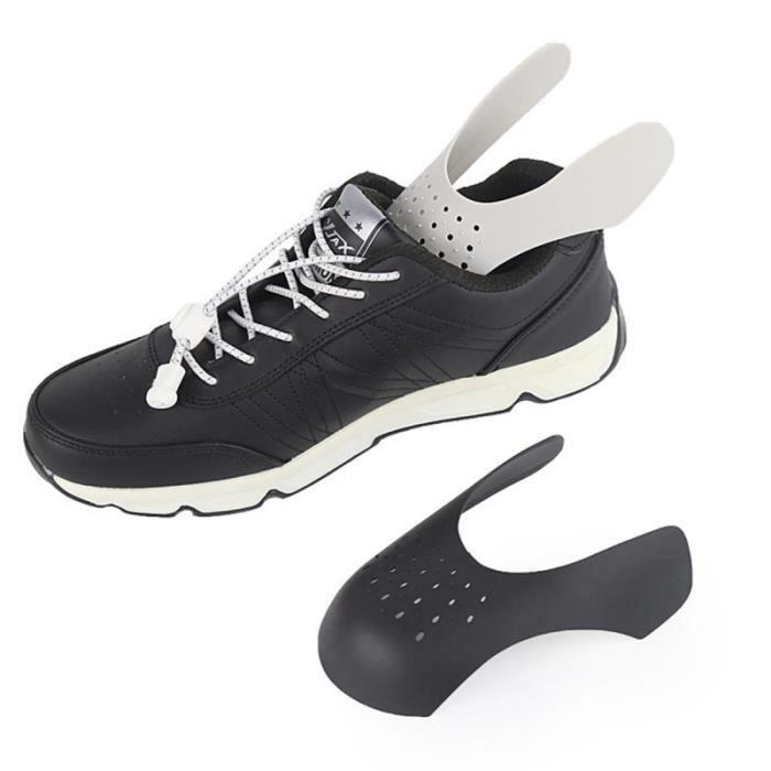 2 Paires Chaussures Baskets Bouclier Protecteurs de plis Anti-Rides Chaussure Décroissant Noir PEDALIER - PEDALE - CACHE-PEDALIER