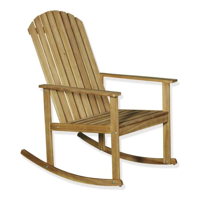 Bergonce Rocking Chair En Acacia Huil Achat Vente