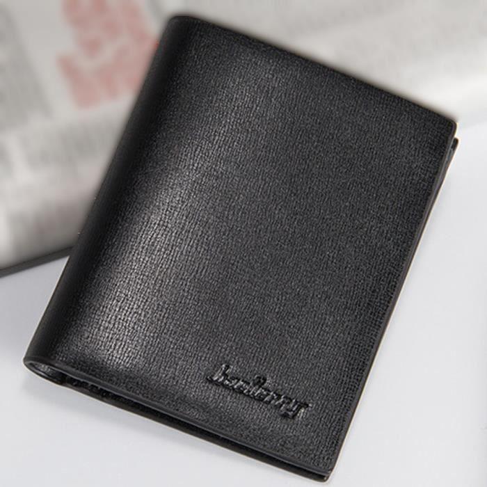 Noir Cuir Homme Long Portefeuille Hommes Pochettes Zipper Portefeuille Multifonction Homme Sac /à Main en Cuir Titulaire de la Carte