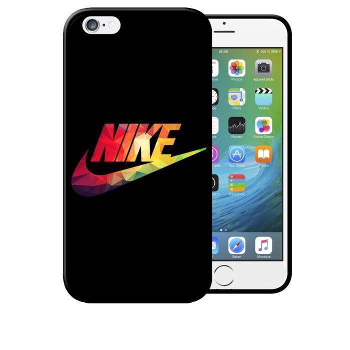 Coque iPhone 6 PLUS Nike Just Do it Noir Logo Couleurs Etui Housse ...
