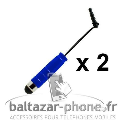 STYLET TÉLÉPHONE 2 Mini Stylets bleu pour LG G Pro