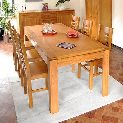 table allonges en ch ne clair achat vente table a manger seule table allonges en ch ne c. Black Bedroom Furniture Sets. Home Design Ideas