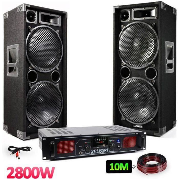 "PACK SONO Pack sono - Enceintes 2x12"" - 2x1400W + Amplificat"