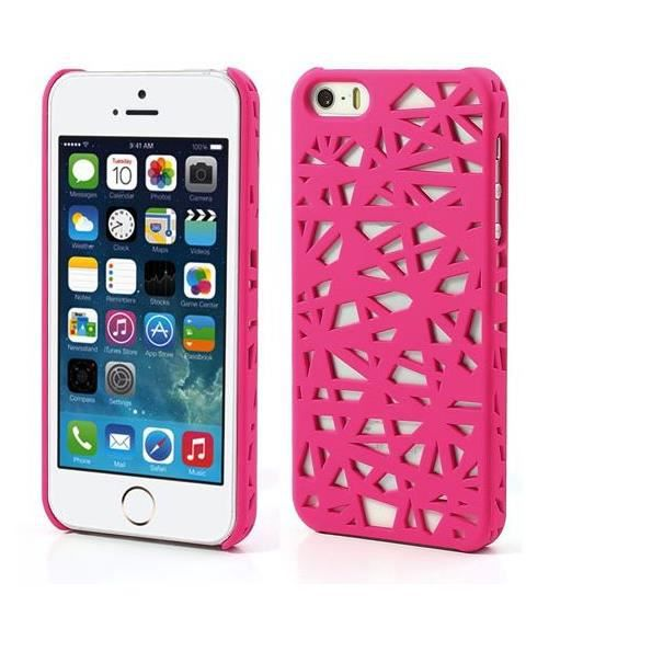 Coque nid d 39 oiseau iphone 5 5s 5c rose achat housse for Housse iphone 5 c