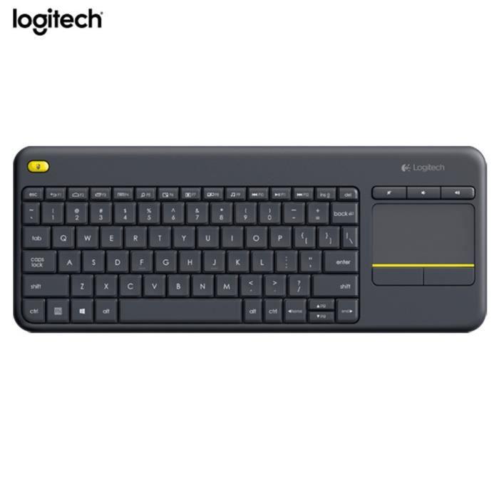 CLAVIER D'ORDINATEUR Logitech K400 Plus Clavier Sans Fil et Touchpad po
