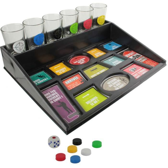 jeu d alcool shooter a gags 6 verres plateau drinking game ambiance fete achat vente table. Black Bedroom Furniture Sets. Home Design Ideas
