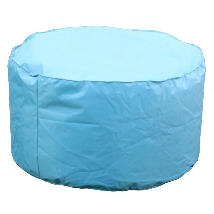 coussin d 39 ext rieur pouf turquoise achat vente coussin. Black Bedroom Furniture Sets. Home Design Ideas
