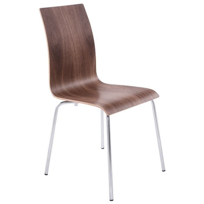 Chaises de salon ou de cuisine noyer lot de 4 achat for Chaise de salon