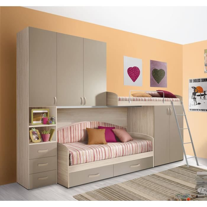 chambre d 39 enfant compl te hurra combin lits tages d cor. Black Bedroom Furniture Sets. Home Design Ideas