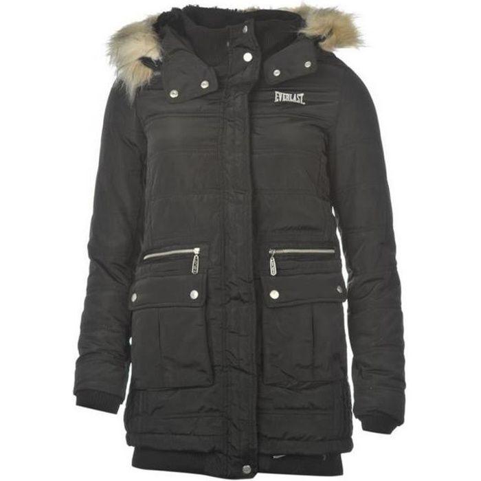 Long Manteau d'Hiver femme Everlast noir