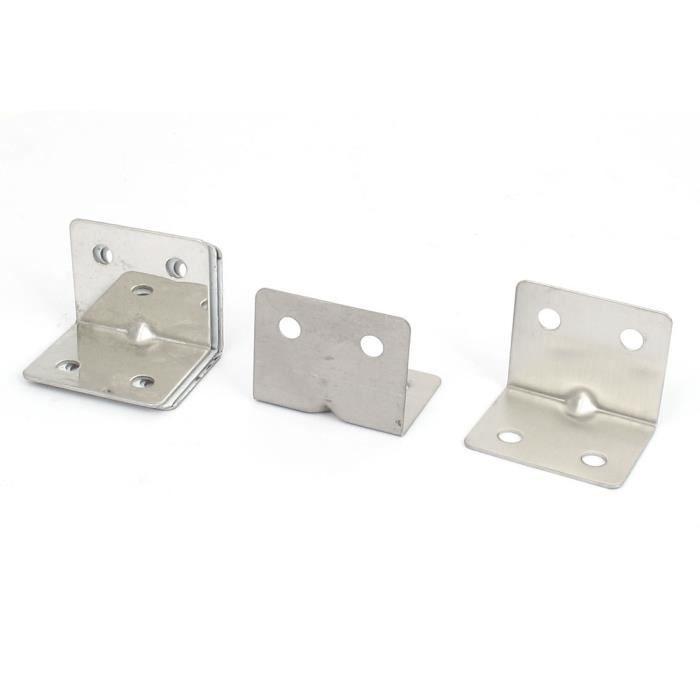 65mmx65mm L Forme étagère d/'angle Brace en Acier Inoxydable Angle Droit Support 2Pcs