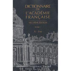 DICTIONNAIRES Dictionnaire de l'Académie française