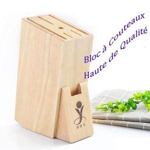 BLOC COUTEAU - MALLETTE Bloc à Couteaux Universels en bois capacité pour 6