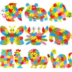 PUZZLE Cadeau de Noël Puzzle animaux en bois Jigsaw Lette