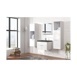 SALLE DE BAIN COMPLETE Meuble salle de bain ALINA Blanc laqué - Meubles s