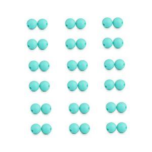 Turquoise Perle ronde en silicone de 12 mm lot de 10 perles