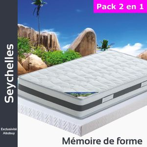 ENSEMBLE LITERIE Seychelles - Pack Matelas + AltoFlex 80x190